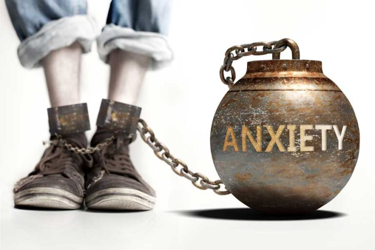 Anxiety as a ball and chain. Hope is possible.